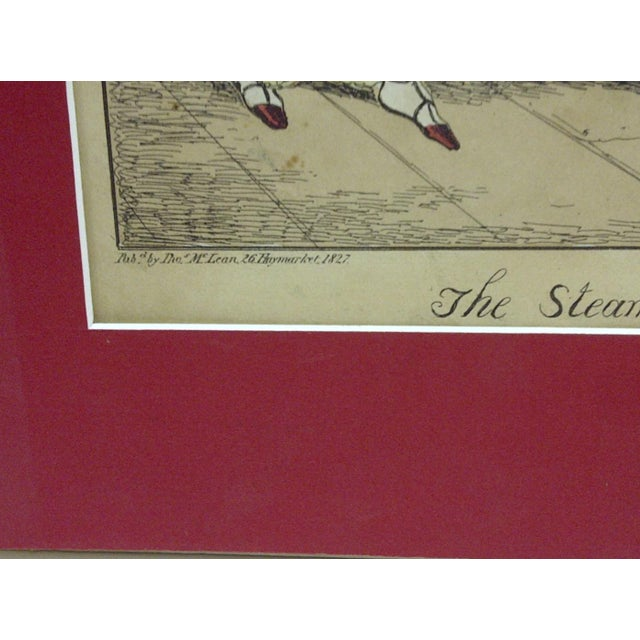 """""""The Steam Boat"""" Hand Colored Print For Sale In Pittsburgh - Image 6 of 6"""