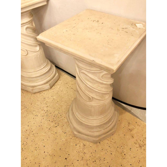 Neoclassical Composite Column Form Pedestals - a Pair For Sale - Image 3 of 7