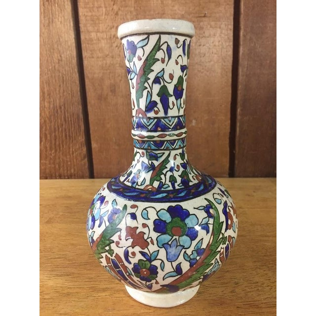 Ceramic Middle Eastern Hand-Painted Glazed Pottery For Sale - Image 7 of 11