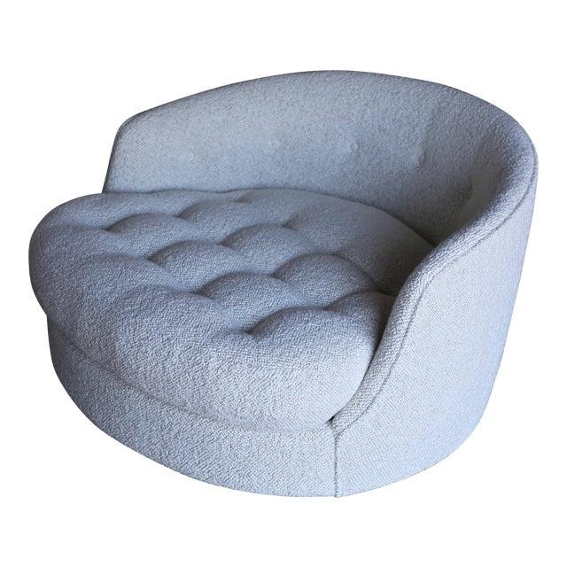 Milo Baughman Large Swivel Lounge Chair for Thayer Coggin, Circa 1970 For Sale