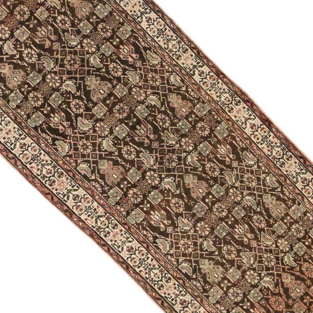 Antique Persian Malayer Carpet Runner with Traditional Modern Style For Sale - Image 4 of 9