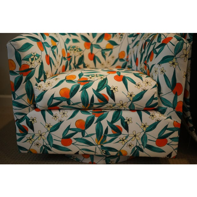 Vintage Mid-Century Baughman Style Swivel Chairs- A Pair For Sale - Image 9 of 10