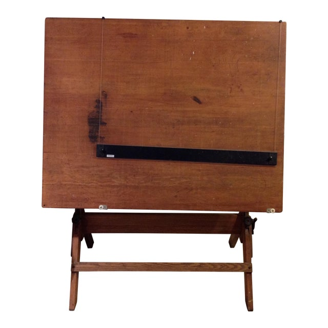 Antique Architect Drafting Table - Image 1 of 8