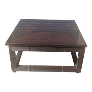 Modern Zembrano Finish Coffee Table For Sale