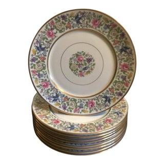 Lamberton China Service Plates - Set of 9 For Sale