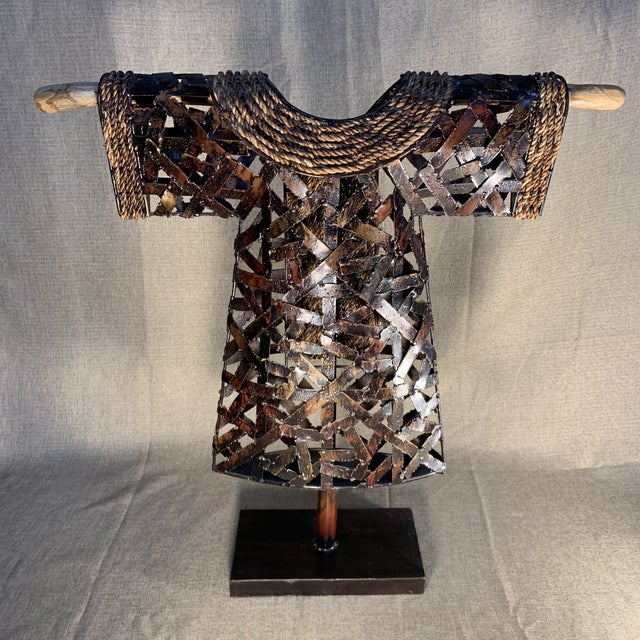 Brown Palecek Kimono Figurine on Stand For Sale - Image 8 of 13