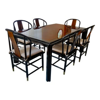 1987 Art-Deco Style Dining Table & Chairs For Sale