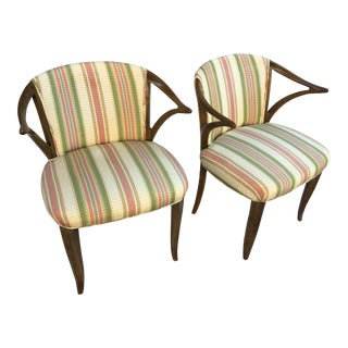 Sculptural Armchairs - a Pair For Sale
