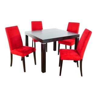 Bo Concept Five Piece Dining Set For Sale