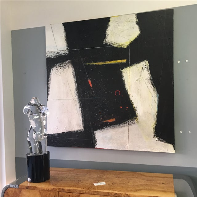 Large Abstract Expressionist Painting - Image 7 of 9