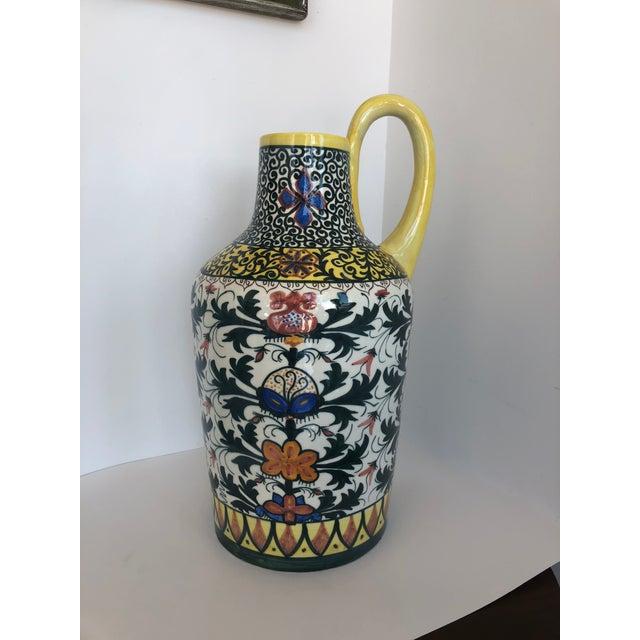 Vintage Boho Glazed Ceramic Candle Holder -- Spain For Sale - Image 11 of 13