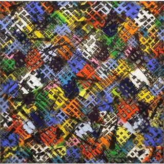 """Diagonal Black Cross"" Painting For Sale"