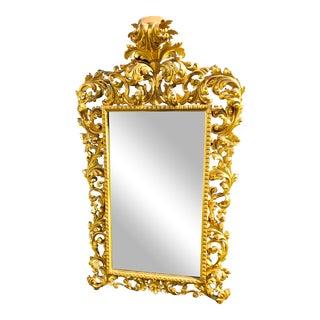 Italian Florentine Giltwood Mirror For Sale