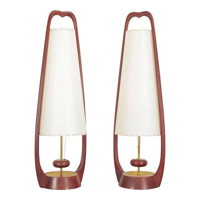 1960s Sculptural Lamps by John Keal for Modeline - a Pair For Sale