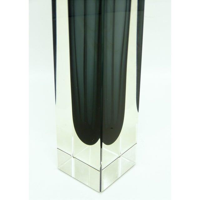 Italian Mandruzzato Murano Mid-Century Modern Gray Glass Vase MCM - Image 8 of 11