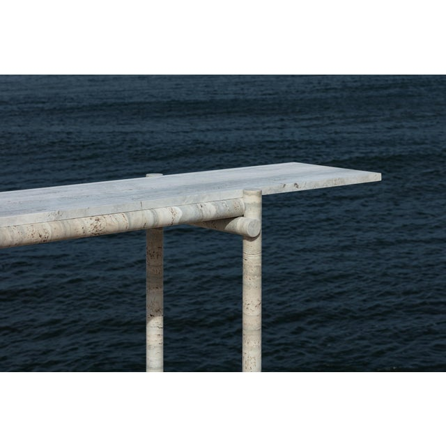 Gray Original Ocean Travertine Console by Clement Brazille For Sale - Image 8 of 13