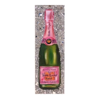 Pop Art Acrylic Painting of Champagne For Sale