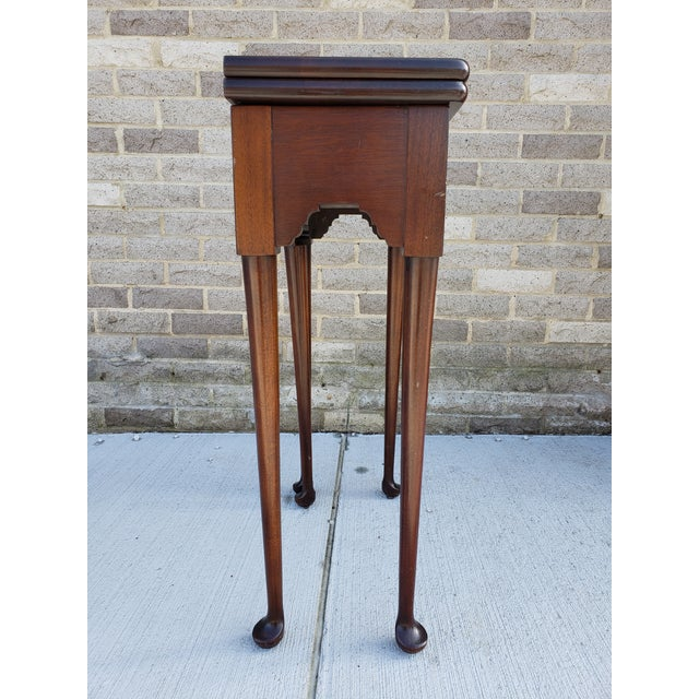 French Provincial Antique French Mahagony Petite Games Table For Sale - Image 3 of 13