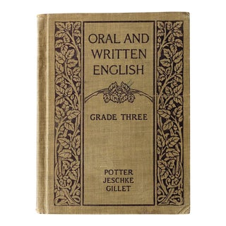 "1920s ""Oral and Written English"" School Book For Sale"