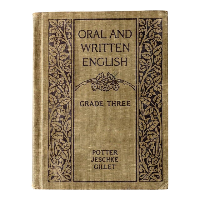 """1920s """"Oral and Written English"""" School Book For Sale"""