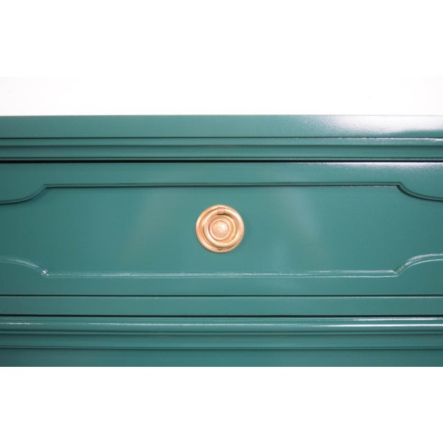 Green 19th Century Modern Hunt Club Gloss Lacquer Green Dresser For Sale - Image 8 of 10