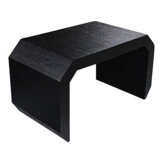 Grass Cloth C Shape Coffee Table