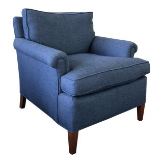 Blue Rolled Armchair