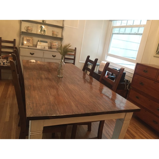 Antiqued Farmhouse Dining Table - Image 8 of 8