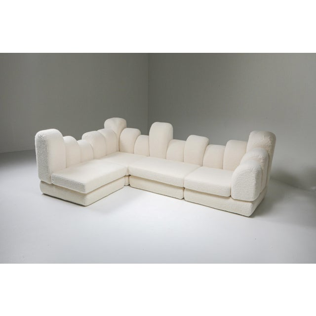 Hans Hopfer 'Dromedaire' Sectional Sofa in Pierre Frey Wool, Roche Bobois - 1974 For Sale - Image 9 of 12