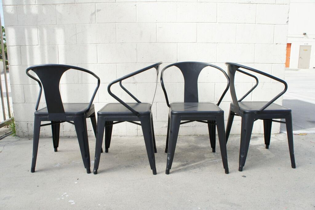 Gentil Tolix Dining Chairs  Set Of 4   Image 2 Of 9