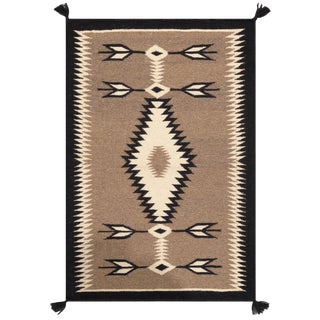 """Pasargad Home Navajo-Style Wool Area Rug- 2' 8"""" X 4' 0"""" For Sale"""