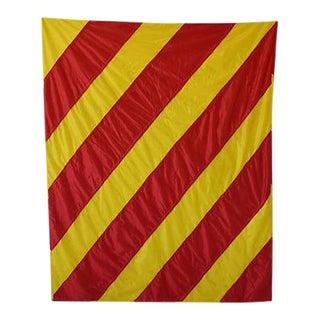 "Vintage Large Maritime Nautical Naval Signal ""Y"" Flag"