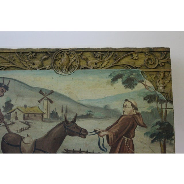 """Late 18th Century """"Franciscan and the Devil"""" Wood Carving For Sale - Image 4 of 6"""