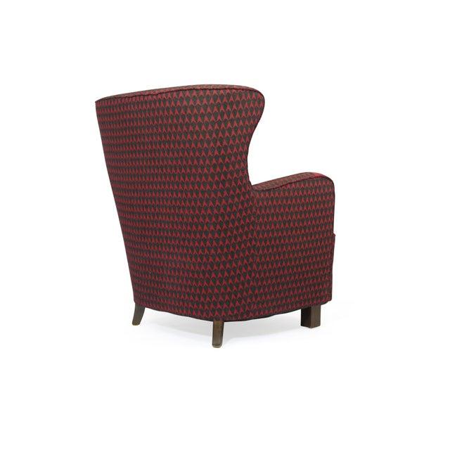 Kaj Gottlob 1937 A.J. Iversen for Kaj Gottlob Deco Lounge Chair Original Fabric For Sale - Image 4 of 9