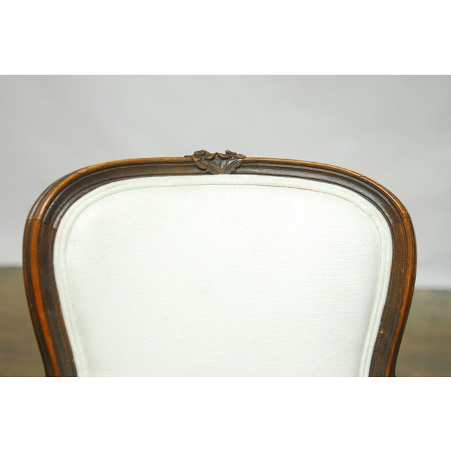 Antique French Louis XV Carved Fauteuil Armchair - Image 2 of 7