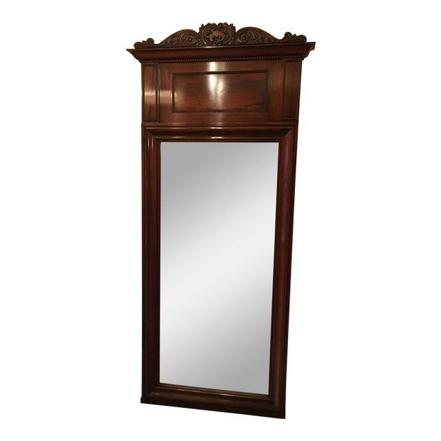 Antique Rosewood Frame Mirror For Sale