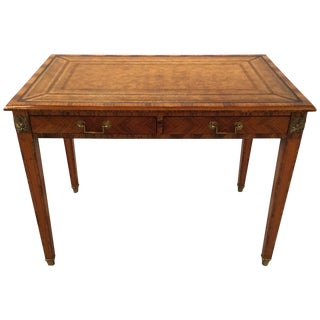 1950s Italian Rosewood and Leather Top Table Writing Desk