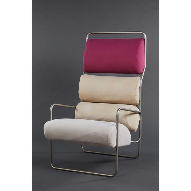 "Pair of Achille Castiglioni ""Sancarlo"" Tubular Metal Chairs for Driade For Sale In Los Angeles - Image 6 of 9"