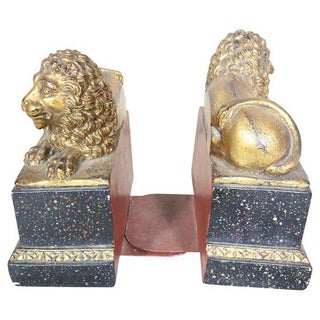 Lion Bookends, Pair Preview