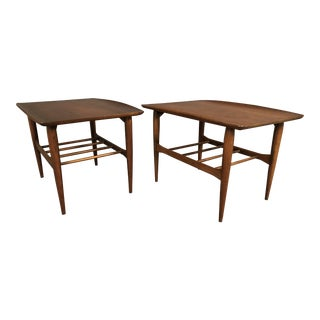 Mid-Century Walnut End Tables - A Pair For Sale