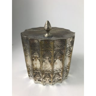 Silver Plated Trinket Box Scalloped Edge Preview