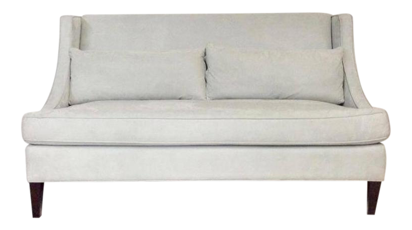 Contemporary American Made Upholstered Settee   Image 1 Of 6