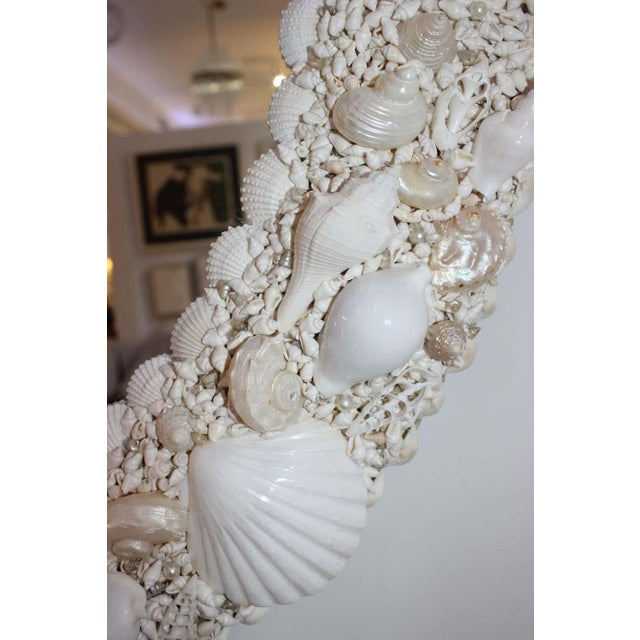 White Seashell Encrusted Mirror bySnob Galeries For Sale - Image 11 of 13