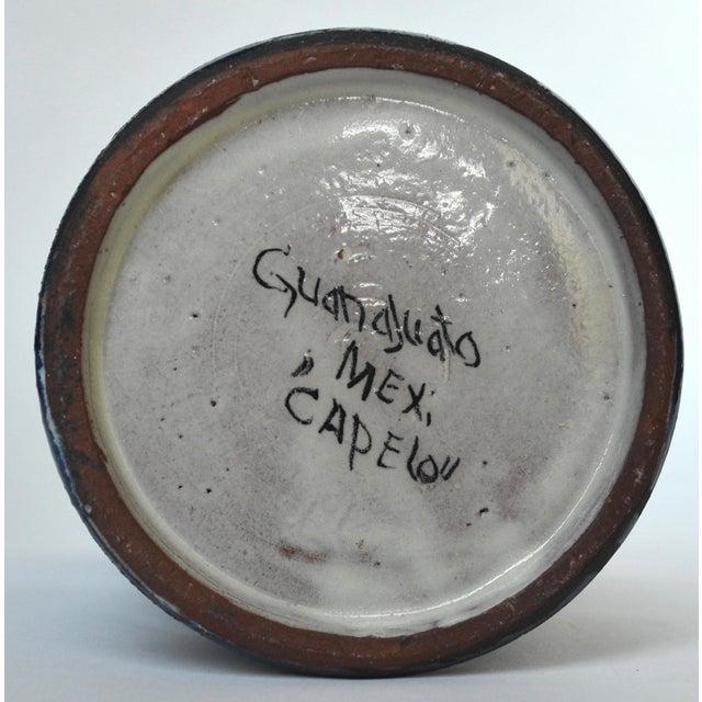 1970s Vintage Guanajuato Capelo Majolica Pottery Pitcher For Sale - Image 5 of 6