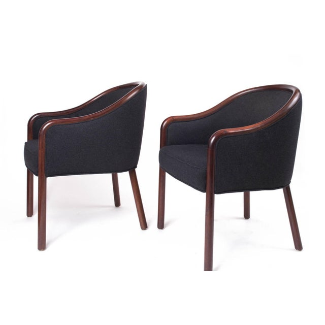 Art Deco 1960s Mid-Century Modern Ward Bennett Bentwood Club Chairs - a Pair For Sale - Image 3 of 5