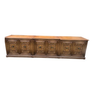 1960s Regency Hand Carved Buffet For Sale