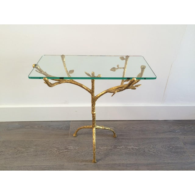 "Gilt Iron Giacometti Style ""Tree"" Side Table - Image 2 of 11"