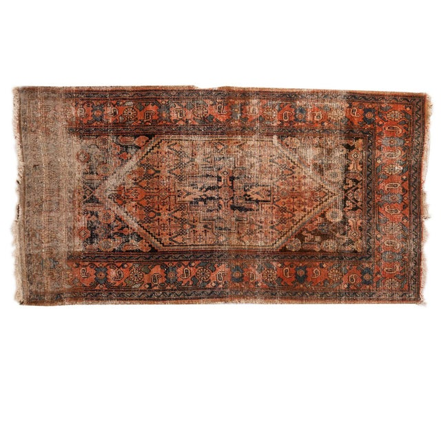 "Antique Distressed Malayer Rug - 3'4"" X 6'2"" - Image 1 of 7"