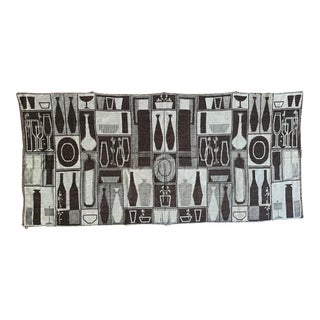1950s Hungarian Decorative Wall Fabric For Sale