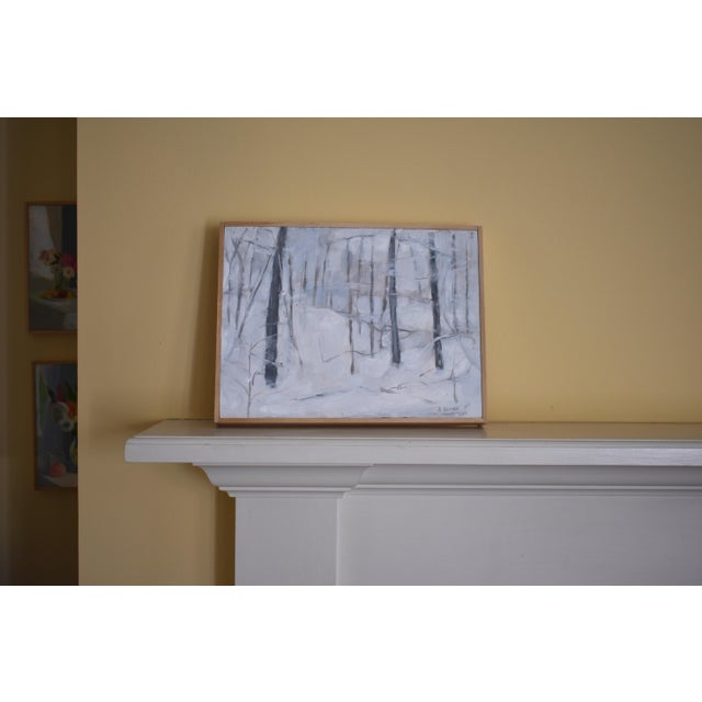 "Modern ""Snow Squall"" Contemporary Painting by Stephen Remick For Sale In Providence - Image 6 of 7"